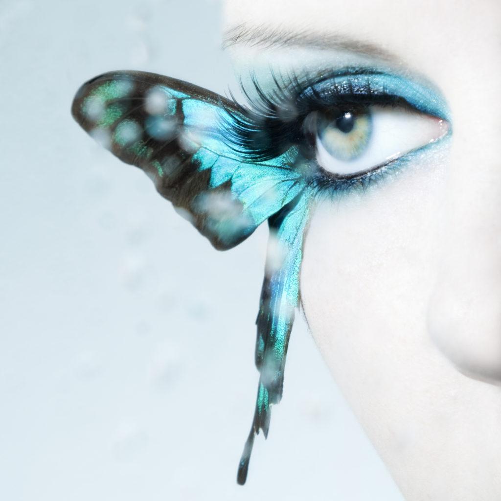 Нарощенные ресницы крылья бабочки фото